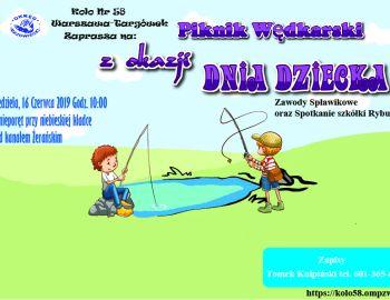Piknik Wędkarski z okazji dnia dziecka oraz spotkanie szkółki Rybusie