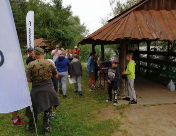 Zawody  wędkarskie organizowane przez Decathlon Targówek